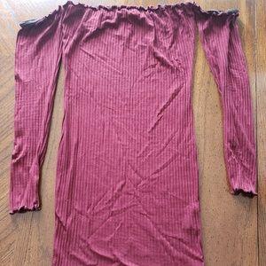 Forever twenty one maroon long sleeve top